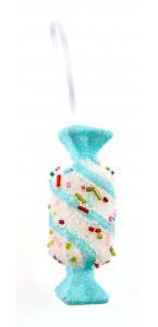 Bonbons bleu Gourmandise à suspendre 9 cm