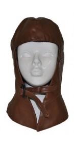Bonnet d'aviateur marron foncé
