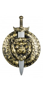 Bouclier + épée 75 x 50 cm