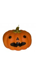 Bougie citrouille Halloween GD 16 cm