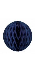 Boule alvéolée ballon bleu royal 25 cm