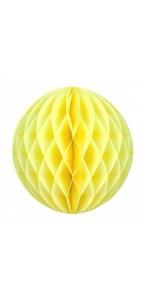 Boule alvéolée ballon jaune 30 cm