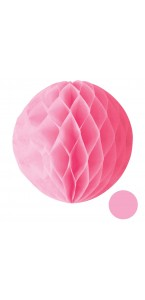 Boule alvéolée ballon rose 25 cm
