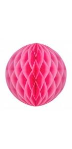 Boule alvéolée ballon rose 30 cm