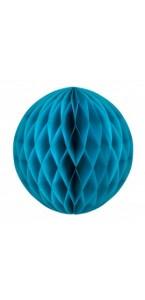 Boule alvéolée ballon turquoise 25 cm