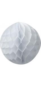 Boule alvéolée  blanche D 15 cm