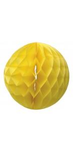 Boule alvéolée jaune 30 cm