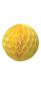Boule alvéolée  jaune D 20 cm