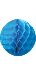 Boule alvéolée  turquoise D 15 cm