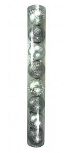 Boule de Noël en verre charm-argent D 10 cm