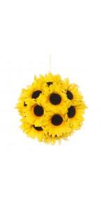 Boule Tournesol jaune à suspendre 18 cm