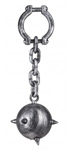 Boulet de prisonnier avec chaîne  55 cm