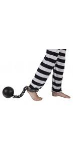 Boulet et chaîne de prisonnier 60 cm