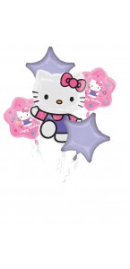 Bouquet de ballons Hello Kitty anniversaire