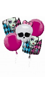 Bouquet de ballons Monster High anniversaire