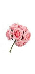 Bouquet de roses roses 20 cm