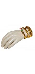 Bracelet doré Serpent
