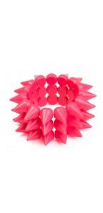 Bracelet fluo rose picots D 7 cm