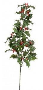 Branche de houx en pvc 60 x 19 x 14 cm