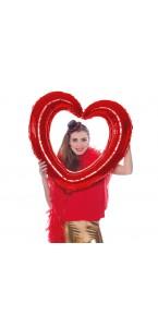 Cœur rouge  gonflable 80 x 75 cm
