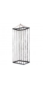 Cage grise Halloween 200 x 72 x 50 cm