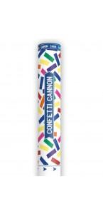 Canon à confettis avec confettis multicolores