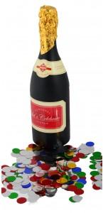 Canon à confettis forme bouteille 32 cm