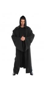 Cape chevalier knight noire adulte Halloween 180 cm