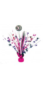 Centre de table Sparkling Celebration rose 30 ans 45,7 cm