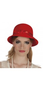 Chapeau Charleston lady rouge