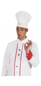Chapeau de chef blanc taille adulte