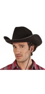 Chapeau de cowboy noir