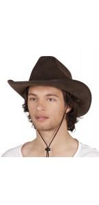 Chapeau de cowboy Utah marron taille adulte