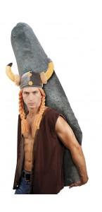 Chapeau de gaulois avec cheveux pour adulte