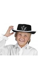 Chapeau de shérif noir taille enfant