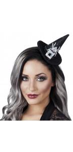 Chapeau de sorcière Aryana sur pince Halloween