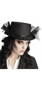 Chapeau Fossoyeur Mégan  Halloween noir