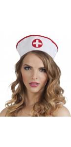 Chapeau infirmière blanc et rouge