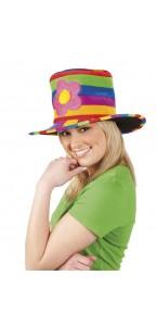 Chapeau rainbow flower multicolore