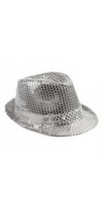 Chapeau sequin argent
