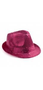 Chapeau sequin rose