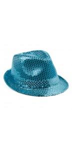 Chapeau sequin turquoise