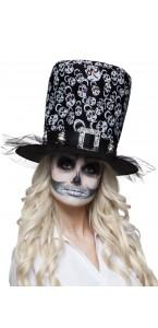 Chapeau Skull Glance haut de forme Halloween