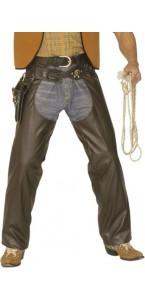 Chaps de cowboy simili cuir marron