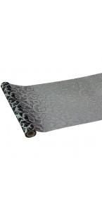 Chemin de table Arabesque organza noir 30 cm x 5 m