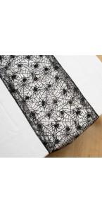 Chemin de table araignées noires Halloween 28 x 240 cm