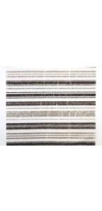 Chemin de table Moma noir/argent 28 cm x 5 m