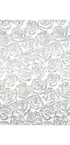 Chemin de table Noël Andromède argent 28 cm x 5 m