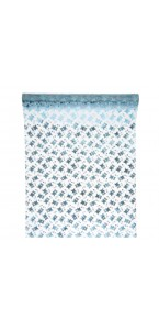Chemin de table Oursons bleu ciel organza 30 cm x 5 m