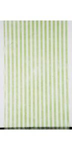 Chemin de table rayure bayadère vert